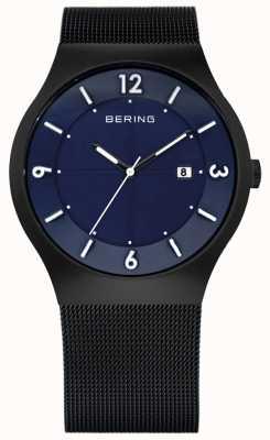 Bering Mens solaire alimenté | bracelet en maille de céramique noire | 14440-227