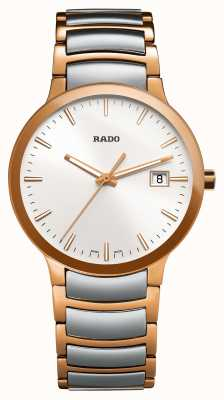Rado Montre Centrix bicolore en acier inoxydable à cadran blanc R30554103
