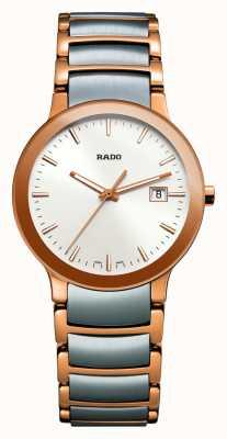 Rado Montre Centrix bicolore en acier inoxydable à cadran blanc R30555103