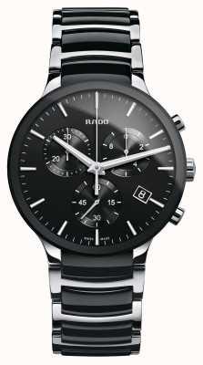 Rado Montre bracelet chronographe en céramique noire Centrix R30130152