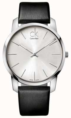 Calvin Klein Mens city watch bracelet noir minimaliste K2G211C6