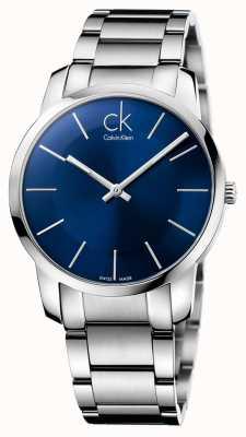Calvin Klein acier argenté ville Mens montre bracelet K2G2114N