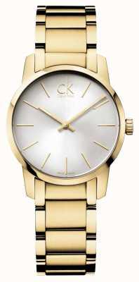 Calvin Klein Mesdames ville montre en or jaune pvd K2G23546