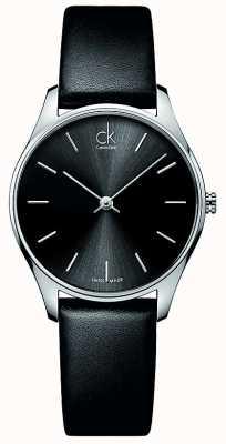 Calvin Klein Montre Classique cuir femmes K4D221C1