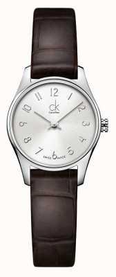 Calvin Klein Mesdames classique de montres brun argent K4D231G6