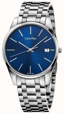 Calvin Klein Temps Mens montre d'argent bleu K4N2114N