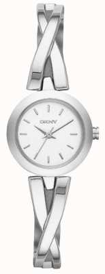 DKNY Mesdames CrossWalk montre en argent NY2169