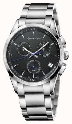Calvin Klein Mens en acier inoxydable cadran noir chronographe K5A27141