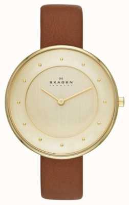 Skagen Ditte montre bracelet en cuir SKW2138