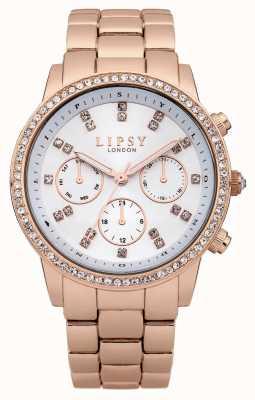 Lipsy Bracelet en or rose en acier inoxydable avec cadran diamant LP240