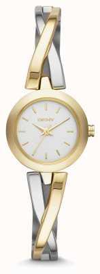 DKNY Mesdames CrossWalk montre d'argent de l'or NY2171