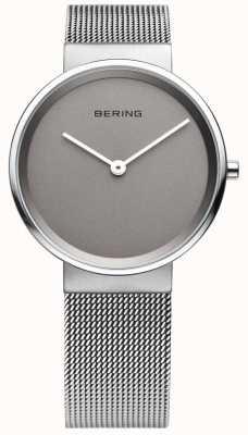 Bering Mens classique, maille, cadran gris montre 14539-077