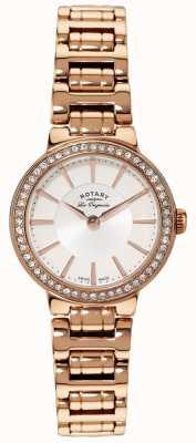 Rotary Mesdames les originales, plaqué or, ensemble de cristal montre LB90085/02