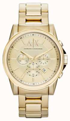 Armani Exchange plaqué Hommes chronographe pvd or smart AX2099