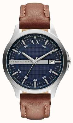 Armani Exchange Date de la montre bracelet en cuir pour homme AX2133