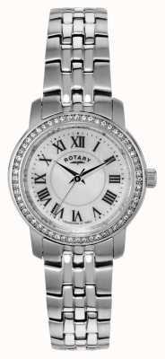 Rotary Mesdames acier inoxydable montre analogique à quartz LB02595/41