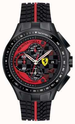 Scuderia Ferrari Jour de course homme, noir, montre en caoutchouc 0830077