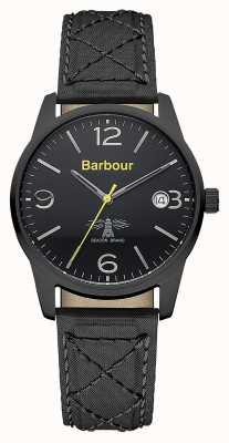 Barbour Mens alanby cuir noir bracelet de montre BB026BKBK