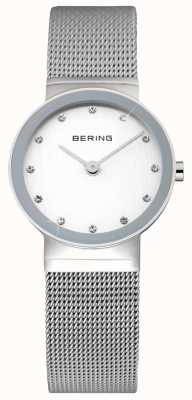 Bering Dames classique | bracelet en acier inoxydable | visage blanc | 10122-000