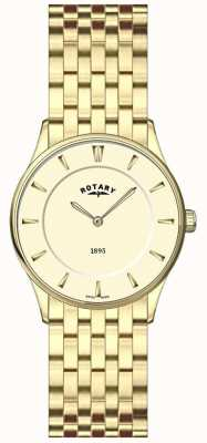 Rotary Mesdames ultra-mince, plaqué or, cadran champagne montre LB08203/03