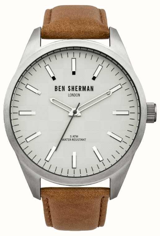 b7afdfe2339 Ben Sherman Mens Grande Carnaby Chèque Montre WB007BR - First Class ...