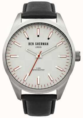 Ben Sherman London montre homme bracelet noir cadran blanc WB007S