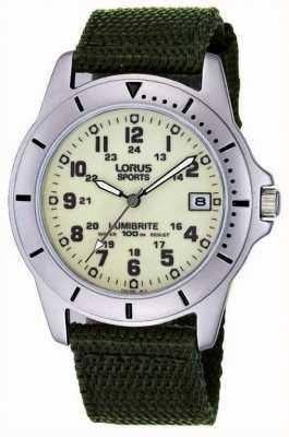 Lorus Analogique de la montre bracelet en toile de Gent RXH005L9