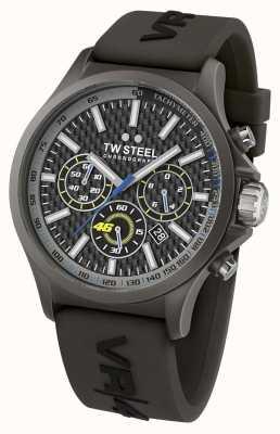 TW Steel Hommes VR46, acier ip noir, bracelet caoutchouc noir chrono TW935
