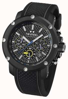 TW Steel Hommes VR46, noir, bracelet en caoutchouc chronographe TW0937