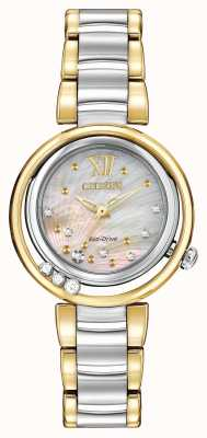 Citizen Eco-drive sunrise l femme diamant deux tons EM0324-58D