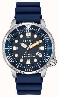 Citizen Gents caoutchouc bleu solaire montre analogique alimenté BN0151-09L