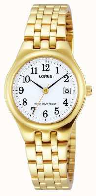 Lorus Date de Bracelet en or plaqué montre bracelet RH786AX9