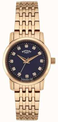 Rotary Womens rose cadran bleu or LB02462/05
