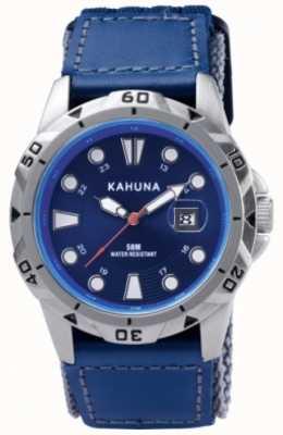 Kahuna Bleu bracelet et cadran métal poli montre de cas K5V-0001G