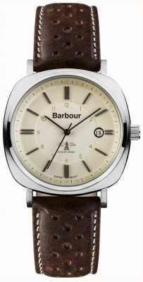 Mens Barbour voiture phare montre brun BB018SLBR