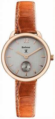 Barbour Mesdames Whitley montre en cuir brun BB035RSTN