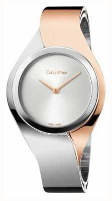 Calvin Klein Ladies sens, deux tons, or rose et acier K5N2M1Z6