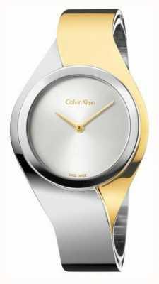 Calvin Klein Sens des femmes | bracelet en acier inoxydable | or / argent | K5N2S1Y6