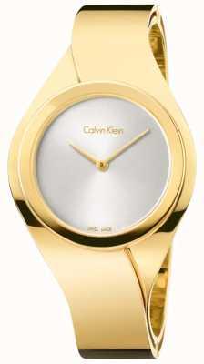 Calvin Klein Mesdames acier inoxydable montre analogique à quartz K5N2S526
