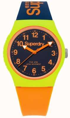 Superdry Marine Urbain silicone orange, bracelet de montre SYG164MU