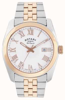 Rotary Hommes Lausanne, à deux tons, montre en or rose GB90111/01