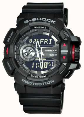 Casio Mens G-Shock montre chronographe noir GA-400-1BER