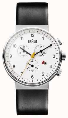 Braun Unisexe montre chronographe classique BN0035WHBKG