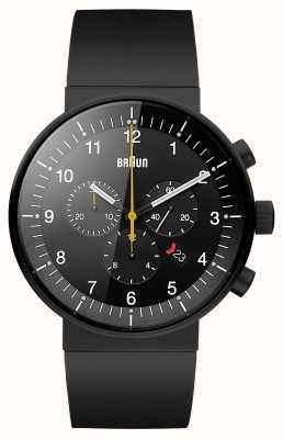 Braun Mens prestige montre chronographe noir BN0095BKBKBKG