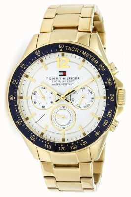 Tommy Hilfiger Montre luke pour homme | étui pvd | bracelet en acier inoxydable doré | 1791121