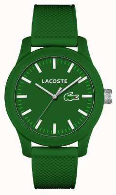 Lacoste Mens 12,12 vert bracelet en silicone cadran vert 2010763