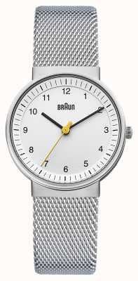 Braun Montre femme | bracelet en acier inoxydable | cadran blanc | BN0031WHSLMHL