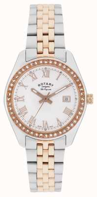 Rotary Mesdames lausanne, deux tons, or rose, cristal LB90111/01