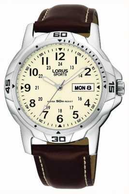 Lorus Bracelet en cuir brun RXN49BX9