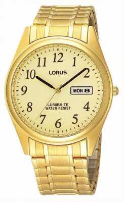 Lorus Plaqué or bracelet en expansion RXN98AX9